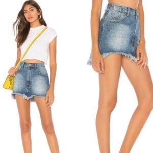 NWT One Teaspoon Pacifica denim mini skirt